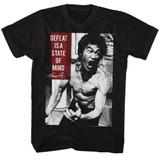 Bruce Lee State Of Mind Black Adult T-Shirt