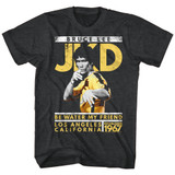 Bruce Lee Jay Kay Dee Black Heather Adult T-Shirt