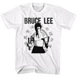 Bruce Lee Chucks White Adult T-Shirt