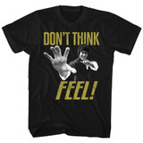 Bruce Lee Feel Black Adult T-Shirt