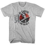 Hai Karate Careful Gray Heather Adult T-Shirt