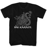 Hai Karate Dragon Black Adult T-Shirt
