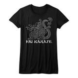 Hai Karate Dragon Black Junior Women's T-Shirt