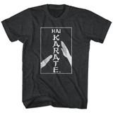 Hai Karate Karate Chop Black Heather Adult T-Shirt