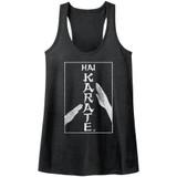 Hai Karate Karate Chop Dark Gray Heather Junior Women's Racerback Tank Top T-Shirt