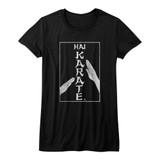 Hai Karate Karate Chop Black Junior Women's T-Shirt
