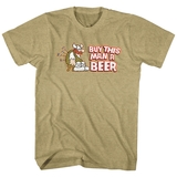 Hagar The Horrible Buy This Man A Beer Khaki Heather Adult T-Shirt