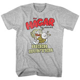 Hagar The Horrible Beer Hunter Gray Heather Adult T-Shirt