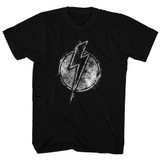 Flash Gordon Chalkie Black Adult T-Shirt
