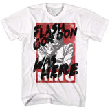 Flash Gordon Graffiti White Adult T-Shirt