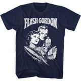 Flash Gordon Gordon Navy Adult T-Shirt