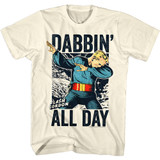 Flash Gordon Dabgordon Natural Adult T-Shirt