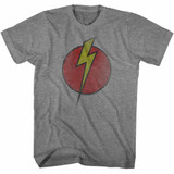 Flash Gordon Bolt Circle Graphite Heather Adult T-Shirt