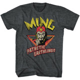 Flash Gordon Ming Pathetic Black Heather Adult T-Shirt