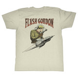 Flash Gordon Flash Rocket Natural Adult T-Shirt