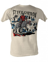 Flash Gordon Flash Collage Natural Adult T-Shirt