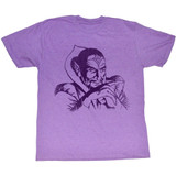 Flash Gordon Ming Retro Purple Heather Adult T-Shirt