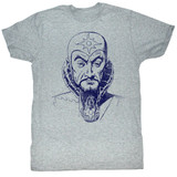 Flash Gordon Ming Mug Gray Heather Adult T-Shirt
