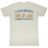 Flash Gordon Conquer Natural Adult T-Shirt