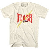 Flash Gordon Flash Bolt Classic Natural Adult T-Shirt