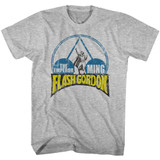 Flash Gordon Emporer Ming Gray Heather Adult T-Shirt