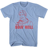 Flash Gordon Doin Well Light Blue Heather Adult T-Shirt