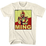 Flash Gordon Ming Natural Adult T-Shirt
