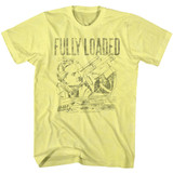Flash Gordon Fully Loaded Yellow Heather Adult T-Shirt