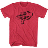 Flash Gordon Ray Gun Cherry Heather Adult T-Shirt