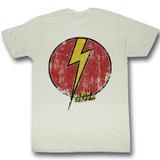Flash Gordon Flash Bolt Natural Adult T-Shirt