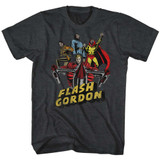 Flash Gordon Greatest Adventure Black Heather Adult T-Shirt