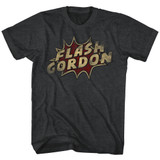 Flash Gordon Dots Black Heather Adult T-Shirt