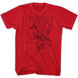 Flash Gordon Print Cardinal Adult T-Shirt