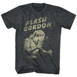 Flash Gordon Flash Aaaaaaa Black Heather Adult T-Shirt