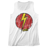 Flash Gordon Flash Bolt White Adult Tank Top