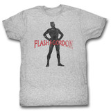 Flash Gordon Gawdon Gray Heather Adult T-Shirt