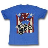 Evel Knievel Spangled Royal Heather Adult T-Shirt
