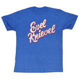 Evel Knievel Bright Royal Heather Adult T-Shirt