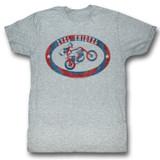Evel Knievel Evel Brand Gray Heather Adult T-Shirt