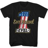 Evel Knievel Evel One Black Adult T-Shirt