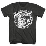 Evel Knievel I Am Evel Black Heather Adult T-Shirt