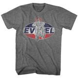 Evel Knievel Logo Classic Graphite Heather Adult T-Shirt