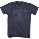 Evel Knievel Jump Good Navy Heather Adult T-Shirt