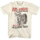Evel Knievel Jump Devil Natural Adult T-Shirt