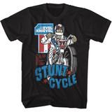 Evel Knievel Stunt Cycle Black Adult T-Shirt