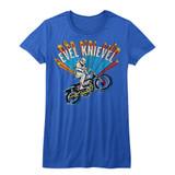 Evel Knievel Royal Junior Women's T-Shirt