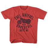 Evel Knievel USA Daredevil Vintage Red Youth T-Shirt