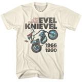 Evel Knievel King Natural Adult T-Shirt