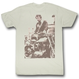 Evel Knievel Sepia Natural Adult T-Shirt