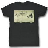Evel Knievel Jump Black Heather Adult T-Shirt